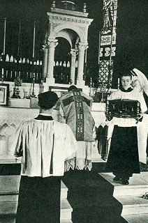 The Server Transfers the Missal to the Gospel Side