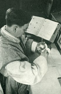 The Priest Reassembles the Articles Used at the Holy Sacrifice