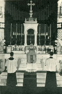 The Priest Prepares to Leave the Sanctuary